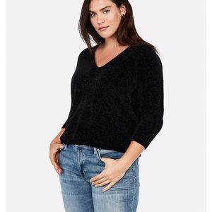 Express size small black chenille sweater